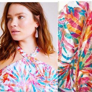 Anthropologie Maui Halter Dress Rainbow Hutch 18W